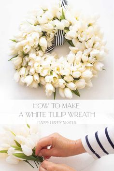 Diy Spring, Spring Home Decor, Summer Diy, Poppy Wreath, Tulip Wreath, Diy Wreath, Wreath Making, Wreath Ideas, Home Crafts