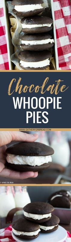 Classic Chocolate Whoopie Pies - Homemade chocolate whoopie pies, made with butter, no shortening. These are a family favorite recipe are inspired by the Amish community here in Lancaster PA.