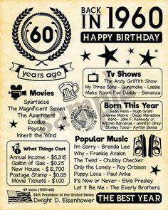 Mom Birthday Gift, 60th Birthday Ideas For Dad, 60th Birthday Party, Husband Birthday, 60th Birthday Quotes, 60th Birthday Decorations, 60th Birthday Messages, 60th Birthday Celebration Ideas, Happy 60th Birthday Wishes