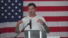 Marcus Luttrell speaks at Texas Grand Ranch at the Homesites Helping Heroes event. Marcus Luttrell, retired United States Navy SEAL, spoke about growing up a. Marcus Luttrell, George Bush Intercontinental Airport, Navy Seals, Growing Up, Ranch, Texas, Guest Ranch, Texas Travel