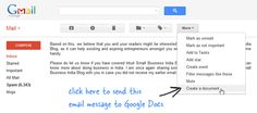 How to Save Your Gmail Messages in Google Docs