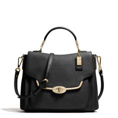 madison small sadie flap satchel in saffiano leather