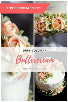 Duff goldman butter cream Ingredients 10 egg whites 15 ounces sugar 2 12 pounds unsalted butter at room temperature Special Equipment 5 Cake Frosting Recipe, Cake Icing, Frosting Recipes, Cake Recipes, Dessert Recipes, Icing Frosting, Food Cakes, Cupcake Cakes, Cupcakes