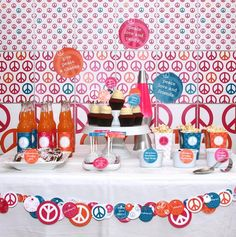 Peace love and party - great for sweet 16 or teens