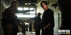 Glenn surrounded by Walkers!!