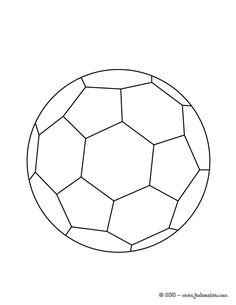 Coloriage d'un ballon de foot. Un dessin pour tous les fans de sport à imprimer gratuitement ou colorier en ligne sur hellokids.com