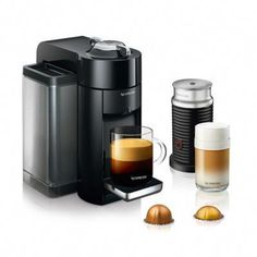 Shop Nespresso De'Longhi VertuoLine Evoluo Coffee Maker and Espresso Machine with Aeroccino Milk Frother Silver at Best Buy. Find low everyday prices and buy online for delivery or in-store pick-up. Coffee And Espresso Maker, Espresso Drinks, Coffee Maker, Nespresso Machine, Cappuccino Machine, Single Serve Coffee, Italian Coffee, Coffee Pods, Ebay