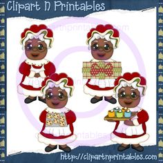 Mrs Claus AA 2012- #Clipart #ResellableClipart #ResellerClipart #Christmas #Santa #SantaClaus #Cookies  #Gifts #Presents #HotChocolate #HotCocoa