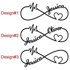 Image result for infinity tattoos with kids names on foot #TattooIdeasForMoms