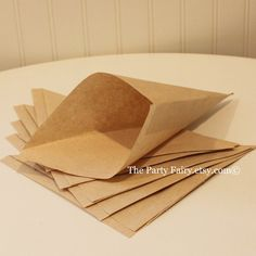Brown Kraft Paper Cone Bags 20 Party Cone Snack by ThePartyFairy