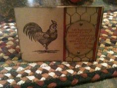 Stampin Up Roosting Rooster Card Kit Vintage Chicken Laura Ingalls Wilder Quote | eBay