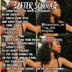 After school/work routine High School Hacks, Life Hacks For School, School Study Tips, Girl Life Hacks, Middle School Hacks, Back To School Glo Up, Middle School Fashion, Back To School Highschool, School Ideas