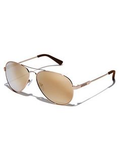 Illiana Mirrored Aviator Sunglasses | GUESS.COM