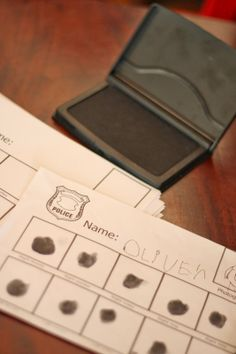 Cops and robbers birthday - fingerprint                                                                                                                                                                                 More