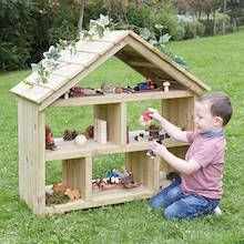Outdoor Wooden Dolls House A beautifully crafted, open-ended dolls house to allow children's imagina Diy Outdoor Toys, Outdoor Toys For Kids, Outdoor Baby, Outdoor Games, Outdoor Learning Spaces, Outdoor Play Areas, Eyfs Outdoor Area, Backyard Play, Backyard For Kids