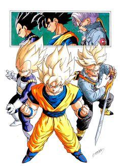 Dragon Ball Z - Vegeta, Goku, Trunks