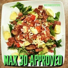 Max 30 and 21 Day Fix Approved Cobb Salad with Dijon Vinaigrette