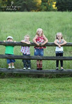 Cousin shot!! But each kid dressed in cowgirl/guy boots and country clothes!!