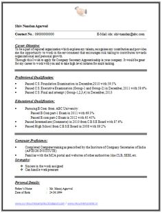 Simple Resume Format Pdf  Simple Resume Format