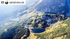 Nádherná sústava plies v Roháčskej doline ...  #praveslovenske od @aerialview.sk  Lakes :) #landscape #lake #lakes #mountains #slovakia #nature #rocks #slovensko #tatry #tatramountains #hiking #rohacskadolina #rohacskeplesa