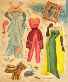 june allyson paper doll | picasaweb.google.com