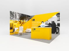 Corner Exhibition Stands Yellow : Best corner angle trade show booth layouts images trade show