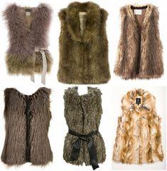 Style Guide: How to wear Faux Fur vest? Fur Fashion, Winter Fashion, Gilet Kimono, Fashion Forecasting, Vest Pattern, Fake Fur, Faux Fur Vests, Fur Jackets, Jackets