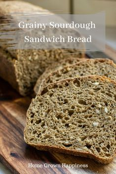 A grainy sourdough sandwich bread, full of whole grains and seeds. A touch of pure molasses adds flavour and helps to keep it moist. Whole Grain Sourdough Bread Recipe, Sour Dough Bread Starter Recipe, Whole Wheat Sandwich Bread Recipe, Oat Bread Recipe, Honey Oat Bread, Whole Wheat Sourdough, Sandwich Bread Recipes, Sourdough Recipes, All You Need Is