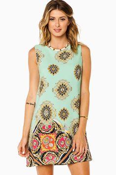 ShopSosie Style : Fernanda Tank Shift Dress in Mint. Cute summer dress and only $37.00!