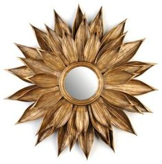 Golden Rosette Mirror - contemporary - mirrors - Kirkland's