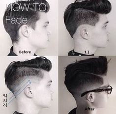 How to fade men's pompadour