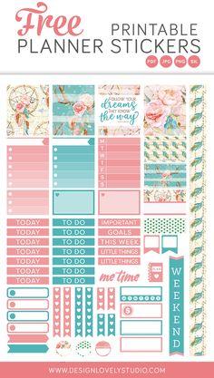 Free printable planner stickers for Erin Condren Horizontal