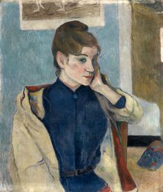 Paul Gauguin (1848-1903) - 1888, Portrait of Madeline Bernard. Oil on canvas, 58 x 72 cm. Painted during Gauguin's second visit to Pont-Aven, where he met up again with Emile Bernard and his young sister Madeleine, aged 17; Gauguin duly fell in love with her. The young woman depicted in this canvas does not look like the angelic portraits painted by her brother.