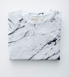 Balenciaga style Marble Print Tee