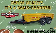 BWise Trailers feature a standard five-year structural warranty and standard features you won't find anywhere else. Dump Trailers, Game Changer, Games, Dump Trucks, Toys, Game