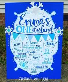 Lots of glitter & sparkle on this #ONEderland birthday stats poster!! 😍🎨❄ . All items are individually #handpainted, not printed. LIKE #CelebrateWithPaint on #Facebook, #Pinterest, & #Etsy! . #Art #Paint #Painter #Maker #MakerMom #IAmAMaker #PaperPainter #PosterBoard #Posters #Cutouts #Keepsakes #PhotoProps #PhotoBackdrop #PartyDecorations #PartyBanner #BedroomDecorations #ClassroomDecorations #OfficeDecorations #WinterWonderland #WinterONEderland #FirstBirthday #Birthday #BirthdayParty…
