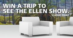 I entered Willowbrook Shopping Centre's Contest to Win a Trip to See The Ellen DeGeneres Show.