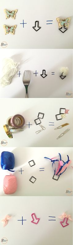 www.plannerpassion.de  #diy #paperclips #washitape #filofaxing