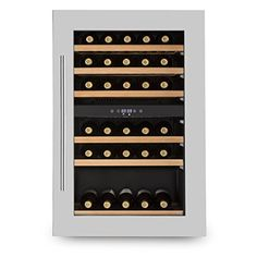 Klarstein Vinsider 35D Cave à vins 41 bouteilles 2 zones (lumière LED, 6 étagères, température réglable, 128L, 5-22°): Réfrigérateur à vin…