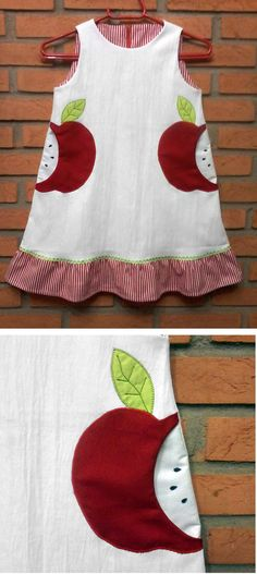 Inspiration for an Oliver + S Building Block dress: cute pockets!