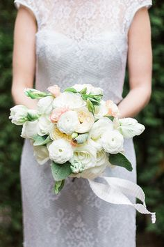 sweet bouquet, photo by Photography Stylistas http://ruffledblog.com/elegant-parisian-styled-wedding #flowers #white #wedding