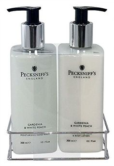 Pecksniffs Gardenia White Peach Hand Wash And Body Lotion Set 300ml 10 1 Fl Oz Each Home Kitchen Bathroom Accessories