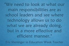 'Digital Leadership': An Interview With Eric Sheninger is my latest Education Week Teacher post. For today's author interview, Eric Sheninger offered to answer a few questions abo… Educational Leadership, Educational Technology, Education Week, 21st Century Learning, Favorite Quotes, Quotations, My Books, Interview, Teacher