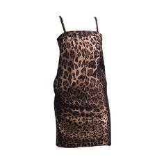 1b1c7d238cc DOLCE and GABBANA Leopard Print Silk Dress