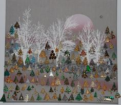 Original pinner said: My  collection of trees.------------great idea for display of pins