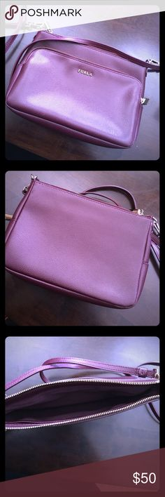 FURLA 💜 handbag 👜 Deep purple hand bag, Gently used. More picture per request. Without Tags Furla Bags Crossbody Bags