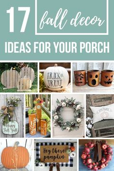 If you are looking for a few fall decorating ideas for outside with a hint of rustic flair, you're going to love all of these fall front porch ideas I've rounded up for you. Thanksgiving Diy, Thanksgiving Decorations, Seasonal Decor, Autumn Decorations, Thanksgiving Appetizers, House Decorations, Fall Home Decor, Autumn Home, Fall Crafts