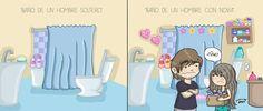 Baño de un hombre soltero