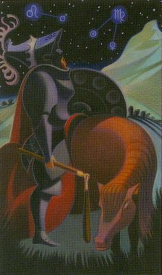Tarot of Stars Eternal - Knight of Pentacles