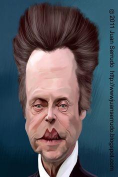 Caricatura de Christopher Walken.